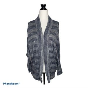 Halston Open Blue and White Cardigan